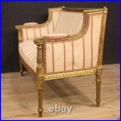 Sofa couch furniture in gold wood antique style Louis XVI living room 900 seat
