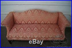 Southwood Mahogany Chippendale Style Flame Stitch Sofa