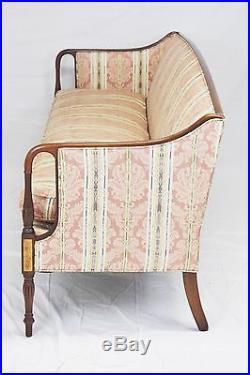 Southwood Mahogany Sofa Federal Inlays Charleston Style Sheraton Legs