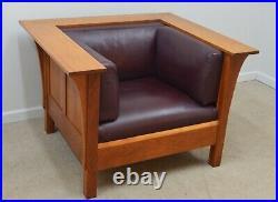 Stickley Mission Cherry Prairie Chair