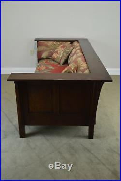 Stickley Mission Oak Prairie Settle Sofa