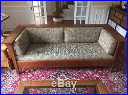 Stickley couch, settle, mission, prairie, upholstered, great shape