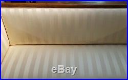 Stunning American Mahogany Sheraton Style Upholstered Sofa, Circa 1880