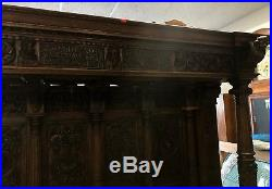 Stunning Antique Canopy Settle Bench Excellent Sofa Couch FL