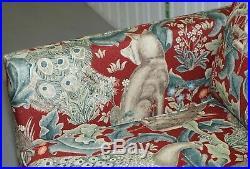 Stunning Brand New William Morris Forest Linen Upholstered Chesterfield Sofa