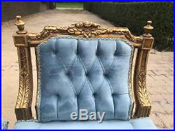Stunning French Louis XVI Banquette/ Marquis