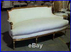 Stunning Gilded French Louis XVI Empire Sofa Settee Canapé
