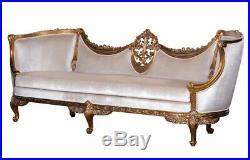 Stunning NEW Custom Made Gold leaf Louis XVI Sofa