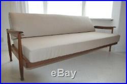 Stunning Vintage Guy Rogers Teak Sofa Bed Settee