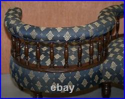 Sublime Original Antique Victorian 1860 Tete A Tete Love Coversation Sofa Seat