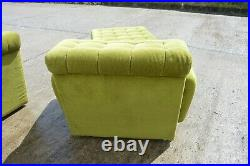TRUE VINTAGE modulare WOHNLANDSCHAFT 60er 7-teilig grün Couch landscape 60's