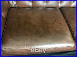 Traditional Handmade Leather Chesterfield Style Antique Tan Brown 2 Seater Sofa