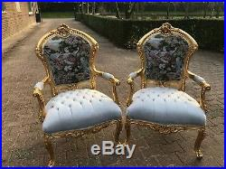 Unique Sofa/Settee/Couch Set with 2 Chairs in Gobelin Louis XVI Style