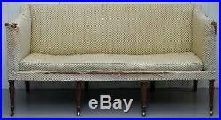 Unrestored Georgian Settee Sofa Circa 1780 Very Rare Find Howard& Son's Ticking