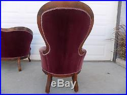 VICTORIAN LOVESEAT SETTEE With TUFTED BACK SOFA CHAISE COUCH & PARLOR CHAIR