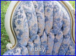 VINTAGE Carved Wood Antique Victorian Shabby Chic Style Loveseat