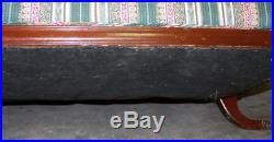 VINTAGE DUNCAN PHYFE STYLE CARVED WOOD SOFA with 4 BRASS FEET