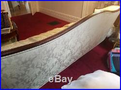 VINTAGE Queen Anne Style Sofa 100% Silk Upholstery