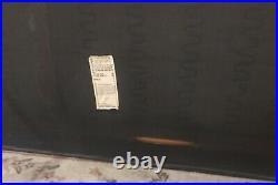 VTG Patrician Furniture Mid-Century Sofa Black Tufted Cushions with Chrome Base