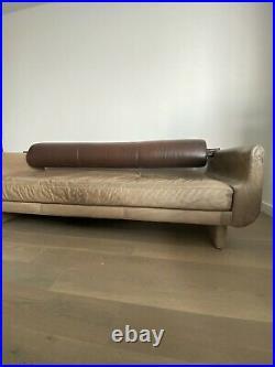 Vadimir Kagan sofa vintage brown leather