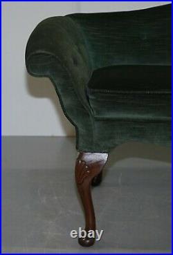 Very Small Window Seat Sofa, Victorian Circa 1880 Based On Early Georgian Design