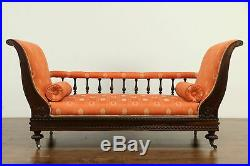 Victorian Antique English Rosewood Settee, Loveseat, Sofa or Hall Bench #33004