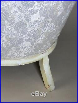 Victorian Antique Reproduction Off White Couch Sofa Settee