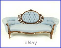 Victorian Chaise Lounge, Antique Loveseat, Vintage Settee, Scotland 1870, B1528