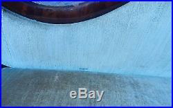 Victorian Empire Mahagony Wood Green Velvet Sofa 35.5 Tall x 82 Wide