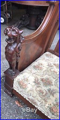 Victorian Griffin Mahogany Sofa