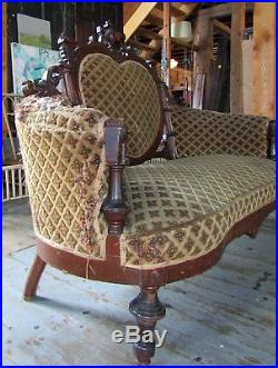 Victorian Renaissance Revival Walnut Sofa