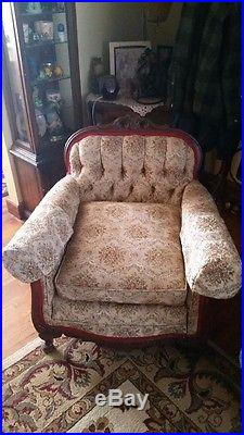 Victorian sofa and chair