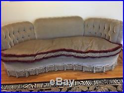 Vintage 1930s Art Deco Mohair Sofa Couch -FANTASTIC ORIGINAL CONDITION-ANTIQUE