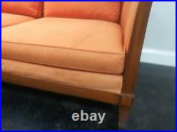 Vintage 1950's MID Century Heritage 95 Long Carrot Colored Sofa W