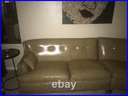 Vintage 1960s Mid century Modern Naugahyde Sectional Sofa