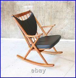 Vintage 60er Bramin Teak Schaukelstuhl F. Reenskaug MidCentury 60s Rocking Chair