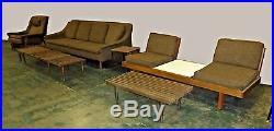 Vintage 6 pc Mid Century Modern Sofa Chair Loveseat Folke Ohlsson for Dux Style