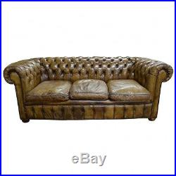 Vintage Antique Chesterfield Sofa Couch