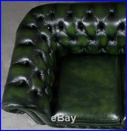 Incredible Vintage Antique Style Tufted Green Leather Chesterfield Love Onthecornerstone Fun Painted Chair Ideas Images Onthecornerstoneorg
