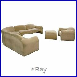 Vintage Art Deco Neo Deco Kagan Milo Baughman Style Sectional Sofa