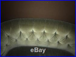 Vintage Bakers Furniture Beige Tufted Couch Loveseat