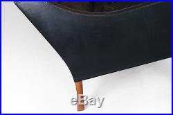 Vintage Borge Mogensen black leather sofa #2209