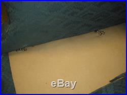 Vintage Camel Back Loveseat Sofa Blue, Clawed Feet Estate By Pennsylvanna House
