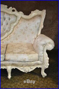 Vintage Carved Italian Renaissance Style Three Seat Sofa