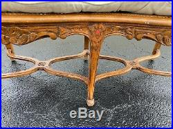 Vintage Century Chair Co. French Country Provincial Cane Loveseat Settee Sofa