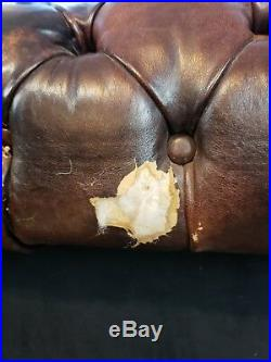 Vintage Chesterfield Leather Sofa Couch