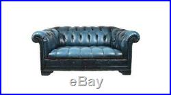 Vintage Chesterfield Sofa- Blue