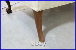 Vintage Chippendale Ball & Claw Down-Filled Camel Back Sofa