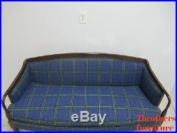 Vintage Custom Mason Art Sheraton Style Mahogany Sofa Couch