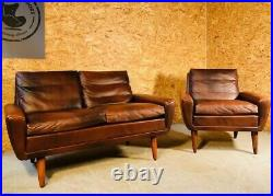 Vintage Danish MID Century Georg Thams 2 Person Sofa Set 1960